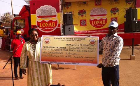 LONAB: Quand   300  F deviennent 66 millions  pour  Edmond  Sawadogo