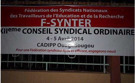 XIIe Conseil syndical de la F-SYNTER: Unité d'action et de grandes résolutions