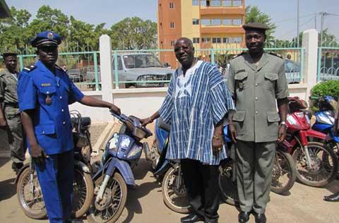 Ouagadougou: La police municipale retrouve une douzaine d'engins volés