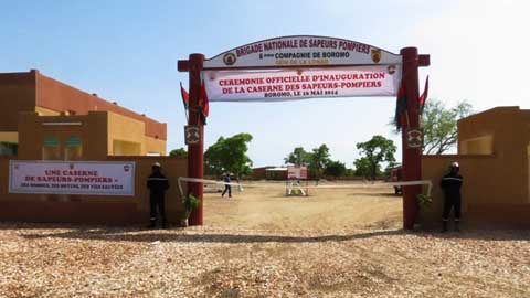 Secours d'urgence: Boromo dispose d'une caserne de Sapeurs-Pompiers