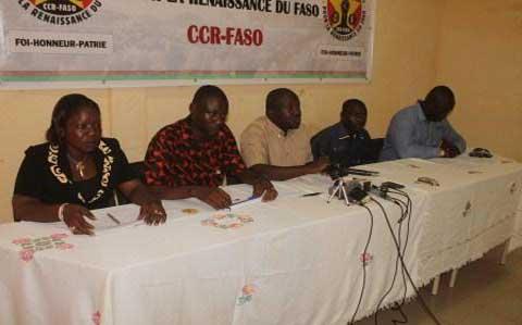Société: La CCR-FASO ou le mouvement  citoyen pour la promotion et la défense des valeurs éthiques de la vie nationale