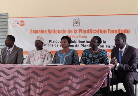 Plaidoyer en faveur de la planification familiale : L'UNFPA- Burkina s'engage
