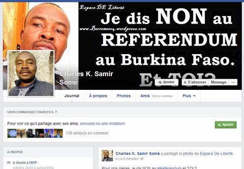 Situation politique nationale: Une campagne contre le référendum sur les réseaux sociaux