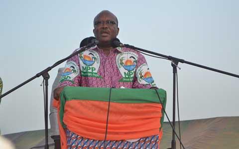 Meeting du MPP à Zorgho: Roch fait le show dans  son fief