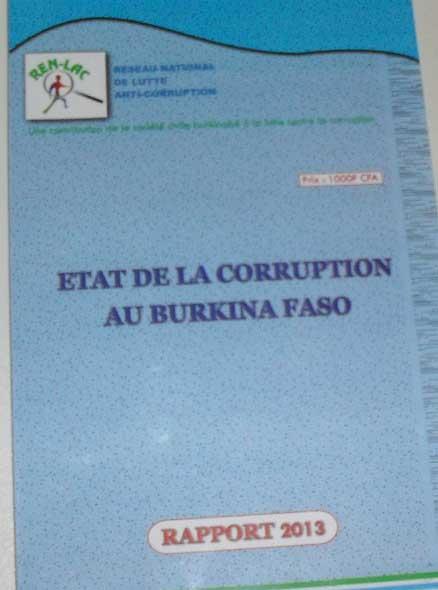 Corruption au Burkina: La douane encore maillot jaune dans le rapport 2013 du REN-LAC