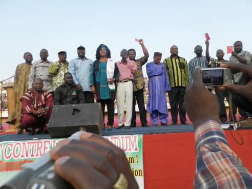 Meeting de l'Opposition à Bobo: Il faudra choisir entre un stade à moitié plein et un stade à moitié vide