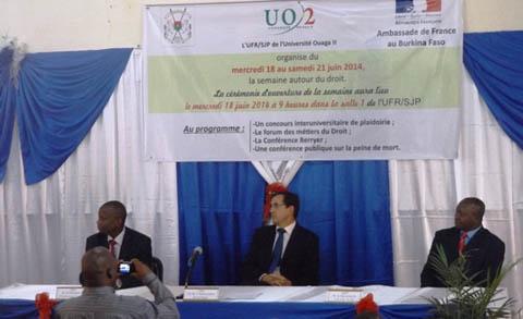 Université Ouaga II: une semaine pour découvrir et comprendre le droit