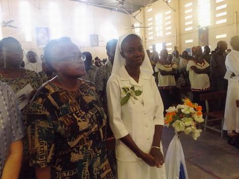 Baskouré: Les vœux perpétuels de Marie Yvonne Kaboré dans la congrégation des sœurs de la Sainte-Croix