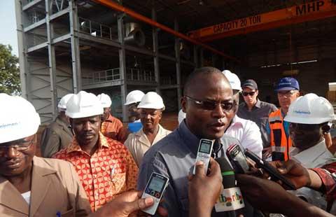 Centrale thermique Bobo II: Le ministre Salif Kaboré satisfait du niveau d'avancement des travaux