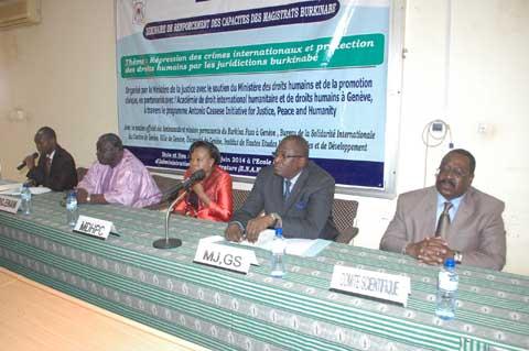 Protection des droits humains et répression des crimes internationaux: Des magistrats burkinabè renforcent leurs capacités