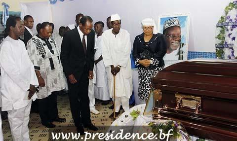 Veillée funèbre au domicile de feu Gérard Kango Ouédraogo: Le couple présidentiel était de la partie
