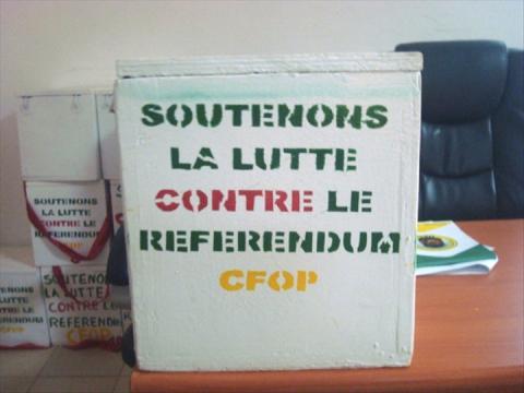 Souscriptions pour la lutte contre le referendum: Au total 2.628.921 F CFA récoltés à la date du 8 juillet