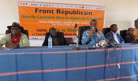 Caravane du Front Républicain dans le Sud- Ouest: Un Appel à la Nation depuis les collines de Bafuji
