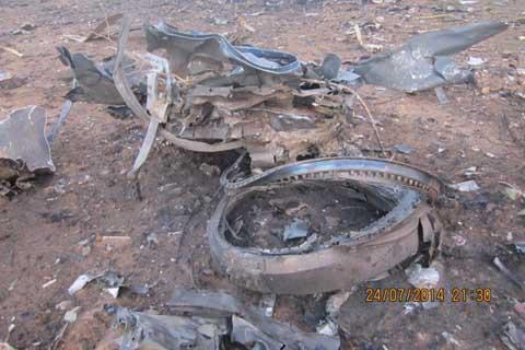 Crash de l'avion d'Air Algérie:  Ce qui reste de l'appareil en images