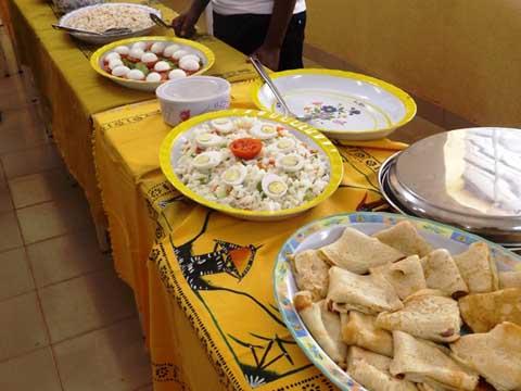 Camp vacances cuisine 2014: Le Ministre de l'Action Sociale apprécie le travail fait