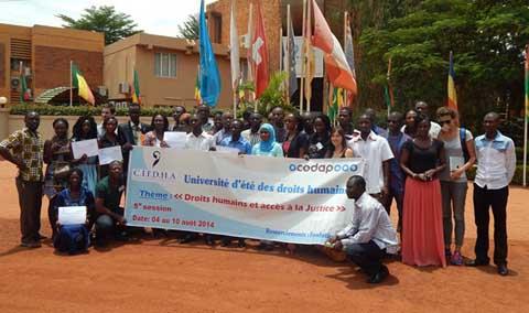 Droits de l'Homme et accès à la justice: Des jeunes en font leurs préoccupations