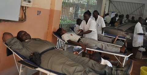 Opération don de sang: La Police nationale apporte sa contribution pour sauver des vies