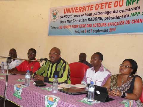Université d'été du MPP Sanguié: Un succès qui va faire tâche d'huile