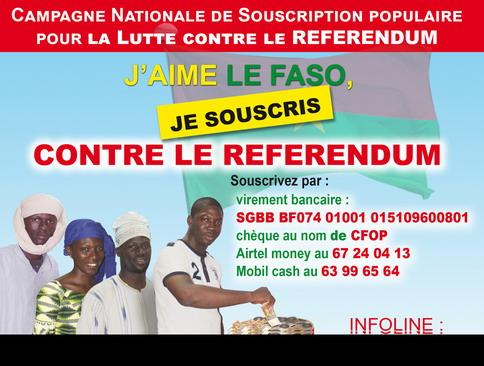 Campagne de souscription contre le référendum: Près de 4 millions de francs CFA récoltés