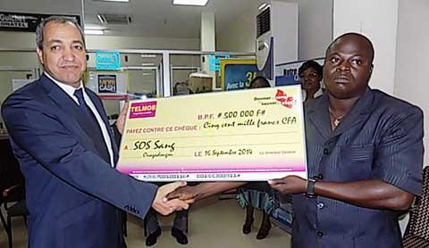 Du sang pour sauver des vies: L'Onatel-SA donne 500 mille francs FCFA et promet 600 poches de sang