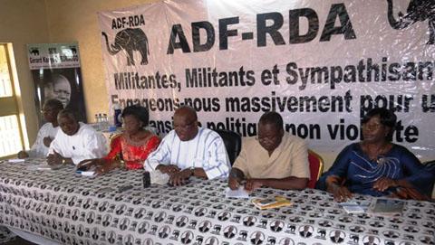 Dialogue politique: Le MPP discute de la situation politique avec l'ADF-RDA
