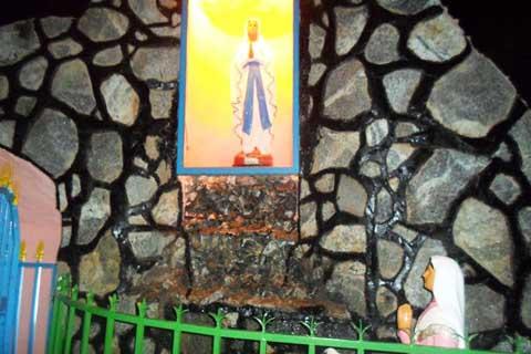 Une grotte de la Vierge Marie pour  la paroisse Saint Augustin de Bissighin: un rêve devenu réalité