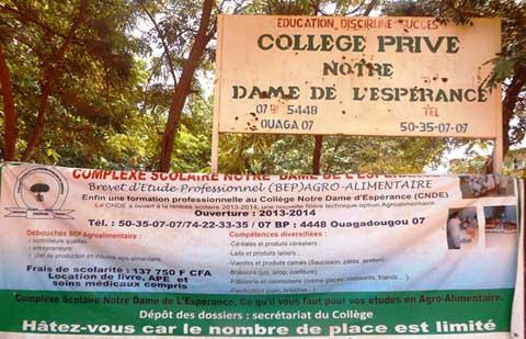 Collège Notre Dame de l'Espérance: lauréat du prix de l'Excellence 2014