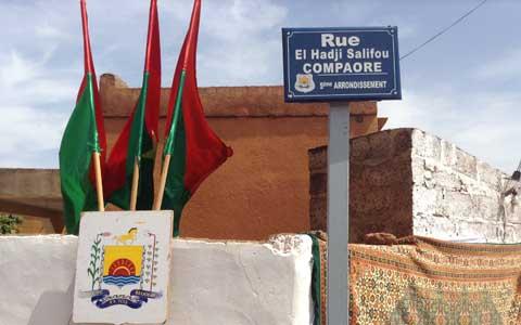 Commune de Ouagadougou: Feu El Hadj Salifou Compaoré a désormais une rue qui porte son nom