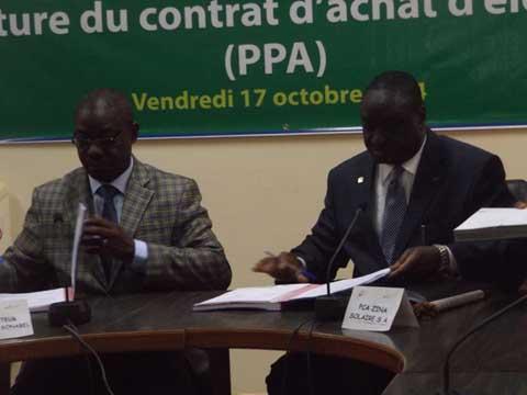 Partenariat Public-Privé: La SONABEL signe un contrat de 24 milliards d'achat d'électricité avec la société Windiga  S.A.