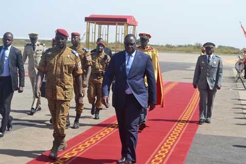 Crise politique: Arrivée à Ouagadougou des Présidents, Macky Sall et Faure Gnassingbé