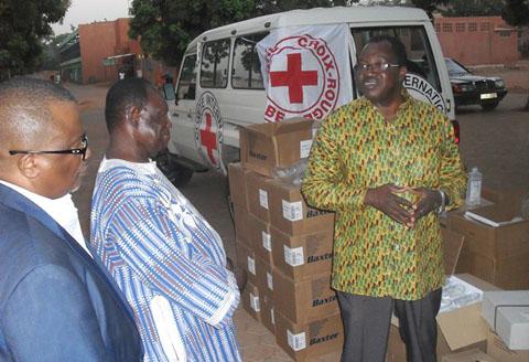 Prise en charge des blessés de l'insurrection à Yalgado: La Croix- rouge apporte sa contribution