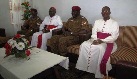Le Lieutenant-colonel Zida chez le Cardinal: «Cette page noire que nous avons connu doit être définitivement derrière nous»