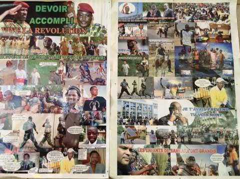 Vente de posters de l'insurrection populaire: le business florissant du moment