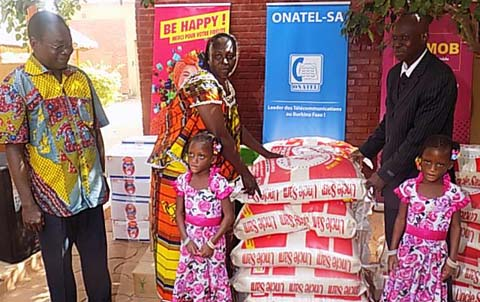 Fêtes de fin d'année: L'ONATEL-SA fait des heureux à SOS village d'enfants de Ouagadougou