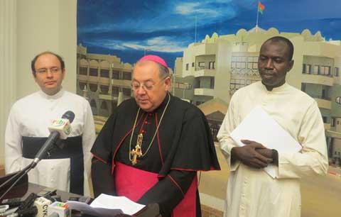 «Le Burkina d'aujourd'hui a besoin d'amour», dixit Vito Rallo, Nonce Apostolique