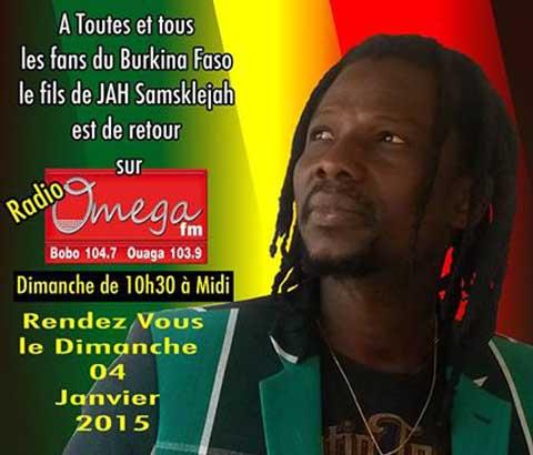 Sams'k le Jah sur la radio Omega: «Je ne voulais reprendre mes émissions qu'après le départ de Blaise Compaoré»
