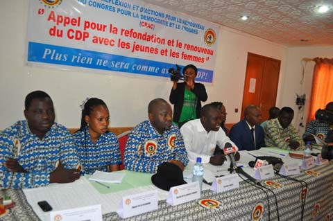CDP: des jeunes appellent à un renouveau du parti