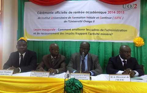 Université Ouaga II: C'est parti pour la rentrée académique 2014- 2015 de l'Institut universitaire de formation initiale et continue (IUFIC)