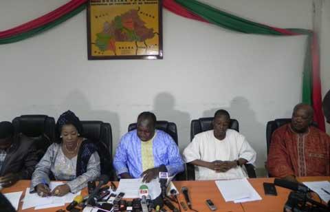 Situation nationale: les partis politiques de l'ex-CFOP condamnent les récents évènements du RSP
