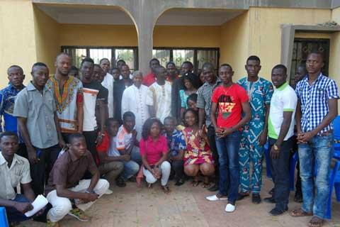 Vœu 2015: Des élèves et étudiants de Bobo chez Anselme Titiama Sanou