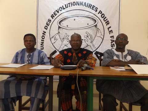 «Les sankaristes au CNT ont mené une bataille de réajustement des émoluments sans taper le Tam Tam», dixit Jean Hubert Bazié, président de l'Union des révolutionnaires pour le Faso