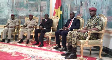 Audience du chef de l'Etat avec les chefs militaires: «Nous vous enverrons une déclaration»