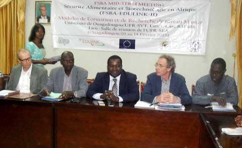 Master en sécurité alimentaire et biotechnologie: Un conclave à Ouaga pour réfléchir sur les modules de formation
