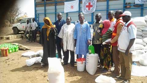 Conflit éleveurs-agriculteurs dans la Kompienga: la Croix-Rouge burkinabè en aide aux victimes