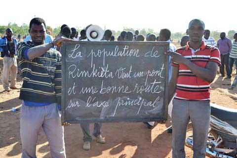 Les populations de Rimkiéta demandent le bitumage de leur voie principale
