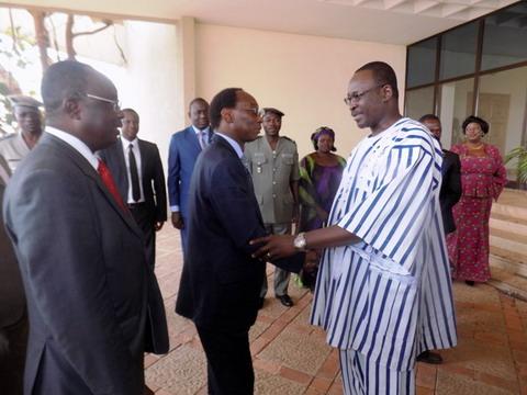 Missions d'explication sur le vote des burkinabè de l'étranger: Auguste Barry et sa délégation accueillis par des acteurs de la société civile