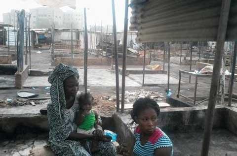 Incendie du marché de Tampouy: Les commerçants doutent de la «bonne foi» des gardiens