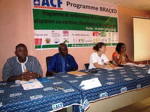 Province de la Gnagna: «BRACED», un projet en réponse aux changements climatiques