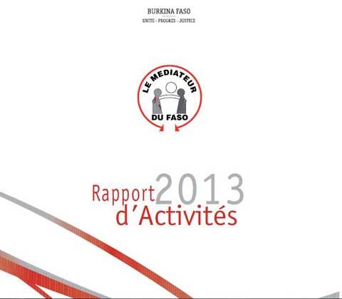 Audiences au CNT: Le Médiateur du Faso présente son rapport d'activités 2013 à Shérif Sy