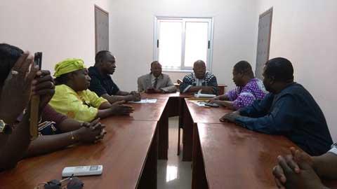 «Que l'intérêt général, la paix et la cohésion sociale soient les seuls repères pour les uns et les autres …!», le président de la NAFA, lors d'une audience à la FEME